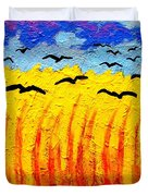 Crows Over Vincent's Field Duvet Cover