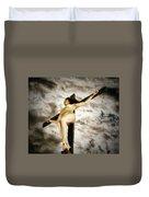 Crucified Woman In Upward View Duvet Cover