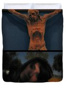 Crucifixion Duvet Cover by James W Johnson