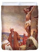 Crucifixion Duvet Cover by William Brassey Hole