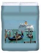 Cruise Ship Port Of Venice Duvet Cover