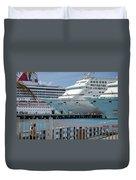Cruise Ship Trio Duvet Cover