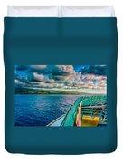 Cruising Hispaniola Duvet Cover
