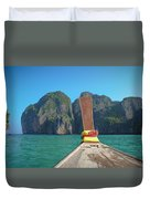 Cruising Maya Bay Duvet Cover