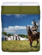 Saddled Up For Battle, Denmark Duvet Cover
