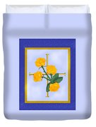 Crusader Cross And Four Gospel Roses Duvet Cover