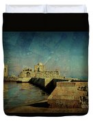 Crusaders Sea Castle Duvet Cover