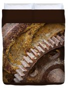 Crusty Rusty Gears Duvet Cover