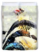 Crying Fowl Duvet Cover