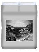 Crying Seagull Black And White Duvet Cover