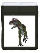 Cryolophosaurus Dinosaur Aggression Duvet Cover