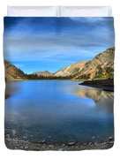 Crypt Lake Gold And Blue Duvet Cover