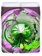 Crystal Ball Flower Garden Duvet Cover