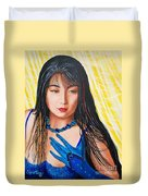 Crystal Blue China Girl            From   The Attitude Girls  Duvet Cover