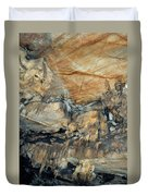 Crystal Cave Marble Formations Portrait Duvet Cover