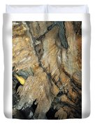 Crystal Cave Wall Formations Duvet Cover