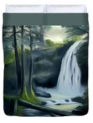Crystal Falls In The Black Forest Dreamy Mirage Duvet Cover