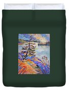 Crystal Light Over The Lake Duvet Cover