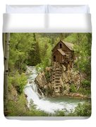 Crystal Mill In July Duvet Cover