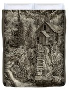 Crystal Mill Marble Colorado Sepia Dsc06944 Duvet Cover