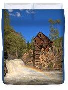 Crystal Mill Rainbow Portrait Duvet Cover