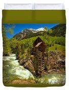 Crystal Mill Summer Landscape Duvet Cover