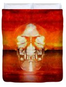Crystal Skull Duvet Cover