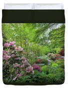 Crystal Springs Rhododendron Garden In Bloom Duvet Cover