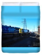 Csx Engines Going Bye Bound Brook Train Stations Duvet Cover