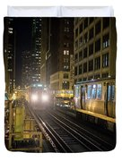 Cta Meet At The State-lake Street Station Chicago Illinois Duvet Cover