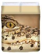 Cuban Croc Smile Duvet Cover
