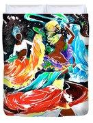 Cuban Dancers - Magical Rhythms... Duvet Cover