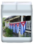 Cuban Flags Duvet Cover