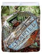 Cuban Refugee Boat 3 The Mariel Duvet Cover