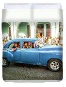 Cuban Taxi Duvet Cover