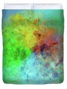 Cubist Rainbow Clouds Duvet Cover