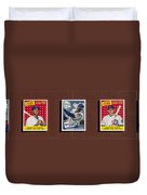 Cubs Card Collection Duvet Cover