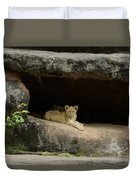 Cubs In Cave Duvet Cover