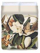 Cuckoo On Magnolia Grandiflora Duvet Cover
