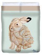Cuddly Arctic Hare II Duvet Cover