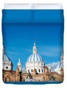 Cuenca Cathedral Domes Duvet Cover