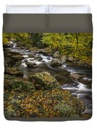 Cullasaja River In Autumn Duvet Cover