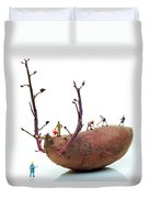 Cultivation On A Sweet Potato Duvet Cover