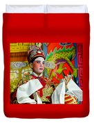 Cultural Opera Actor In Red Duvet Cover