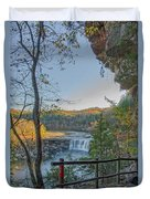Cumberland Falls Ky From Eagle Falls Trail Duvet Cover