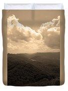 Cumberland Gap - Kentucky Sepia Duvet Cover