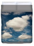 Cumulus Clouds With Nature Patterns Duvet Cover