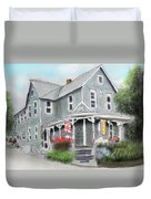 Cup A Joes Coffee Shop Duvet Cover