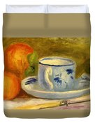 Cup And Oranges Duvet Cover