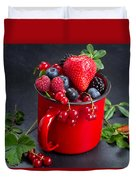 Cup Of Fresh Berries Duvet Cover